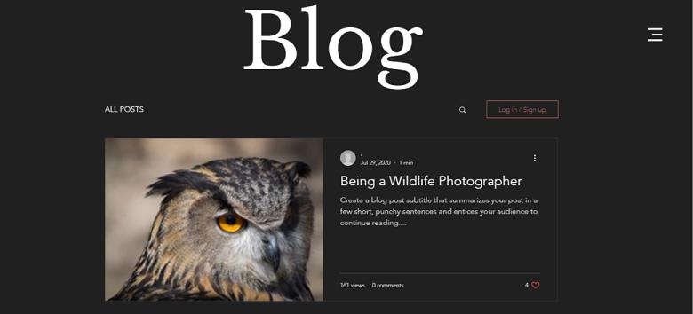 Wix Wildlife Photography Blog