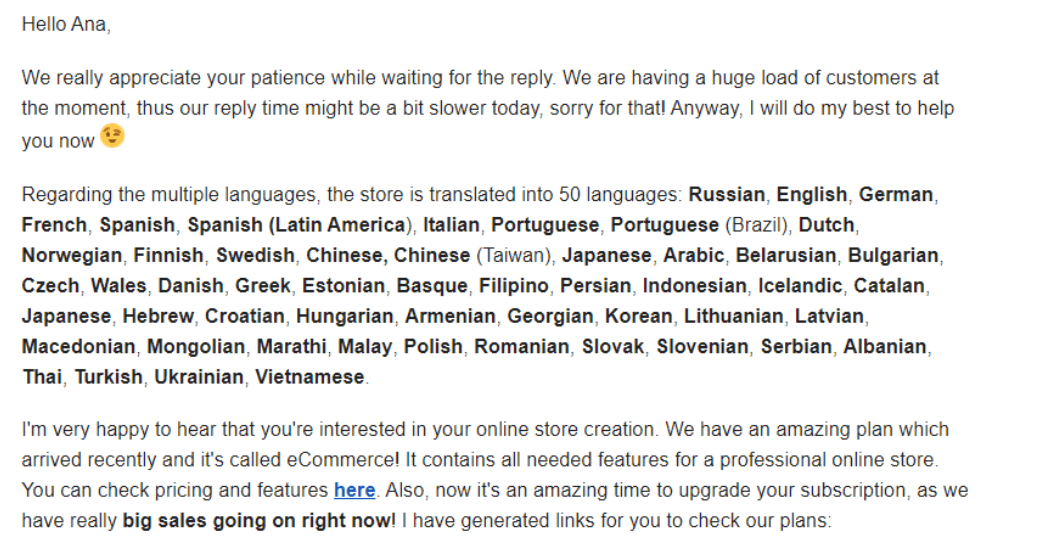 Zyro Email Support