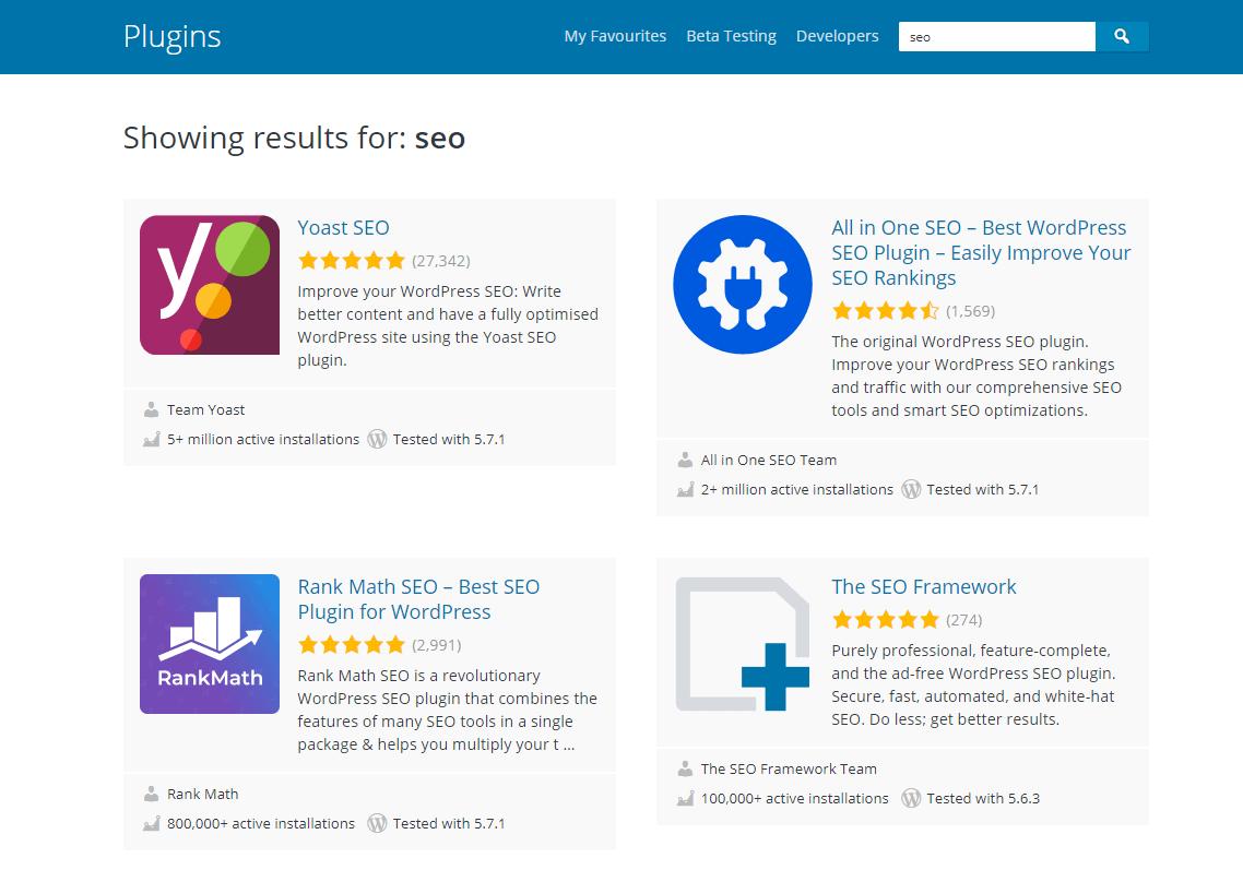 Wordpress.com seo plugins