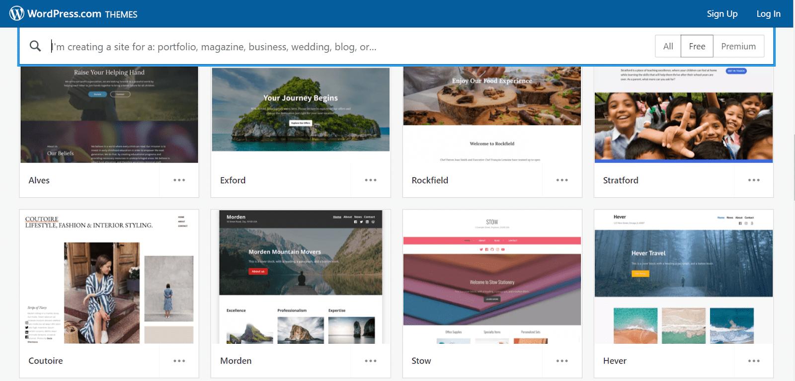 Wordpress.com template library