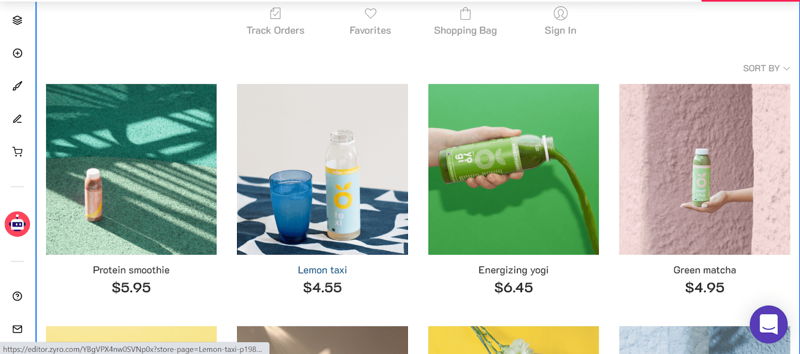 Zyro online store