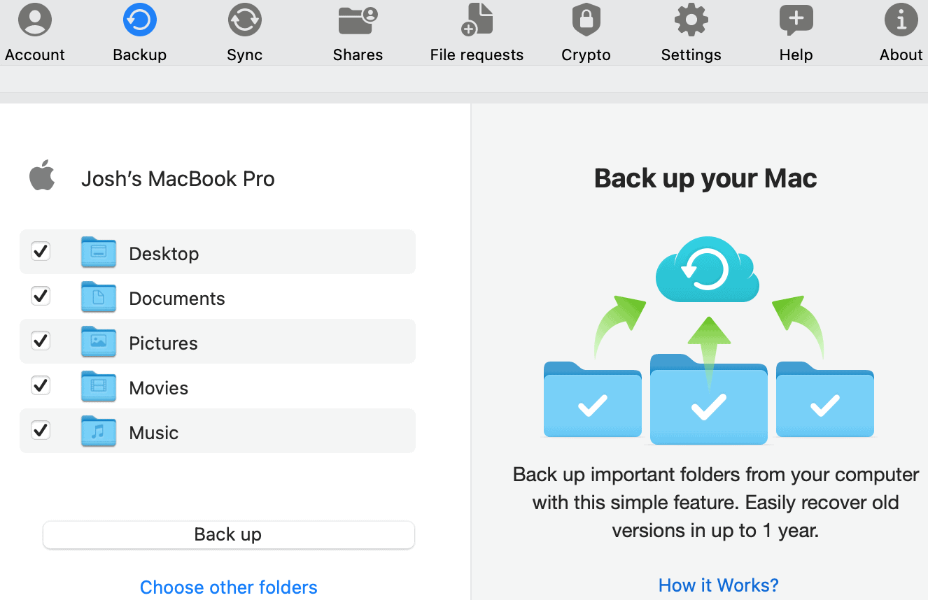 pCloud desktop app