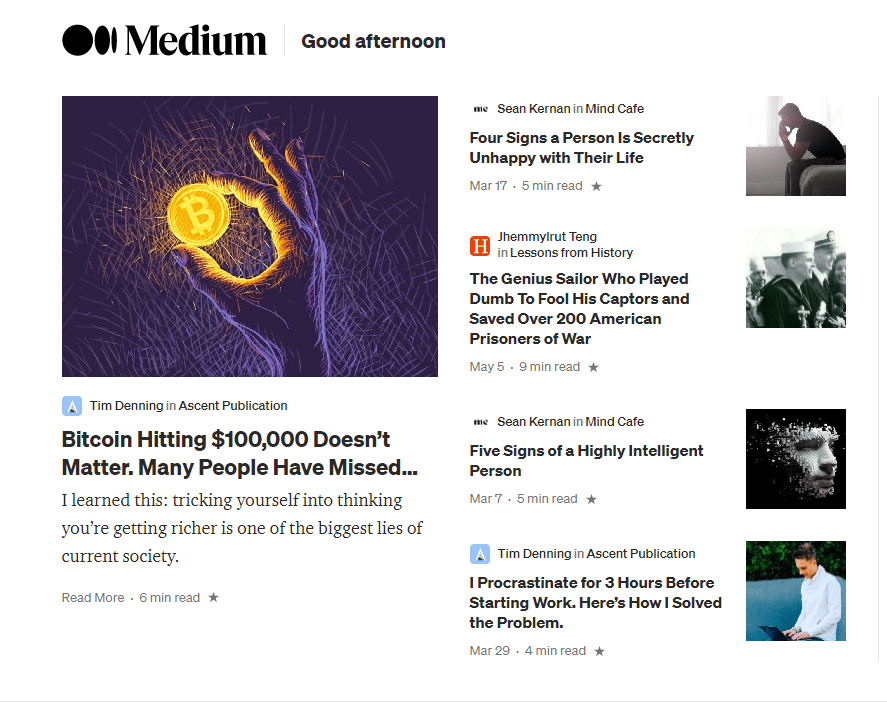 Medium blog posts