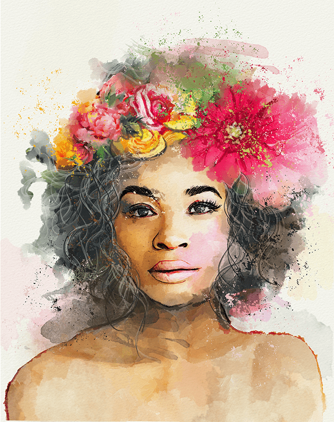Fiverr watercolor illustration – Hesh360