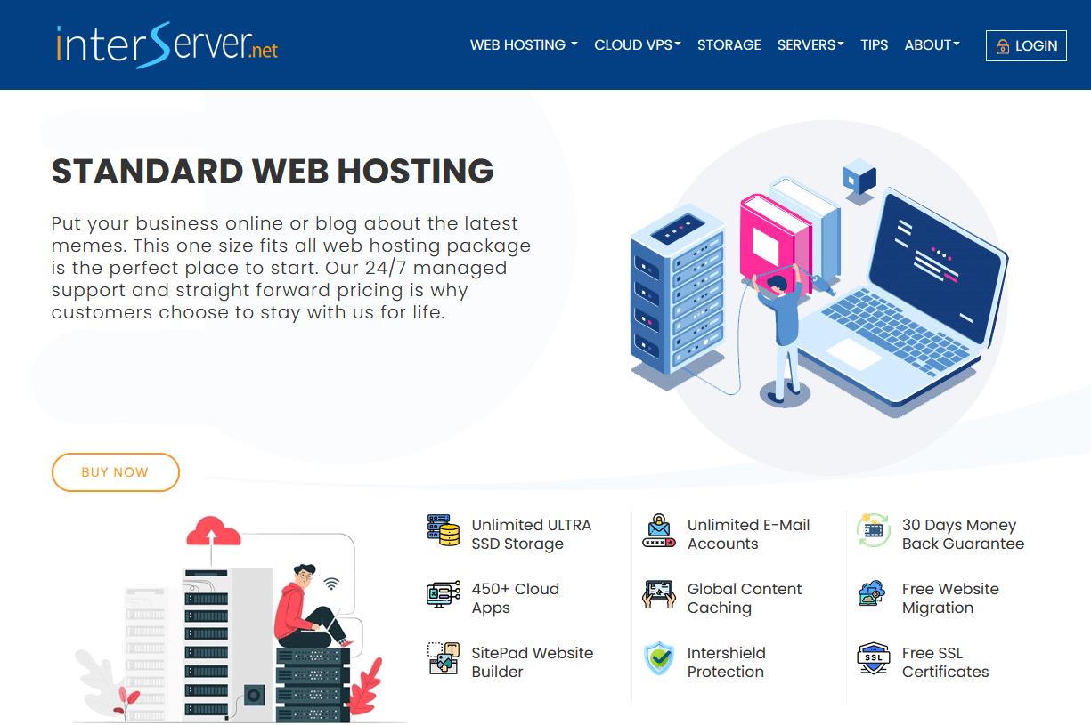 InterServer - standard web hosting