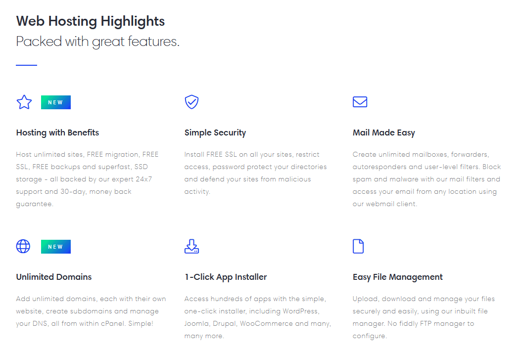 eUKhost - shared hosting features