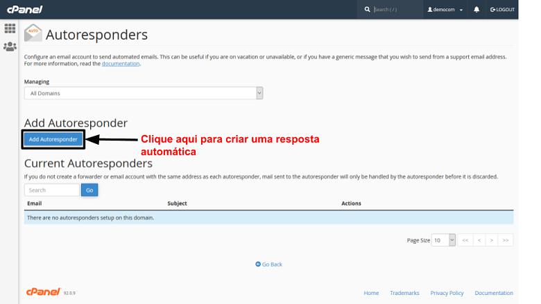 cPanel - autoresponders 1