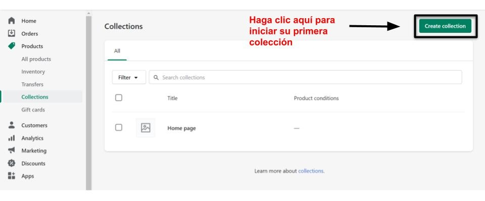 Create collection Shopify