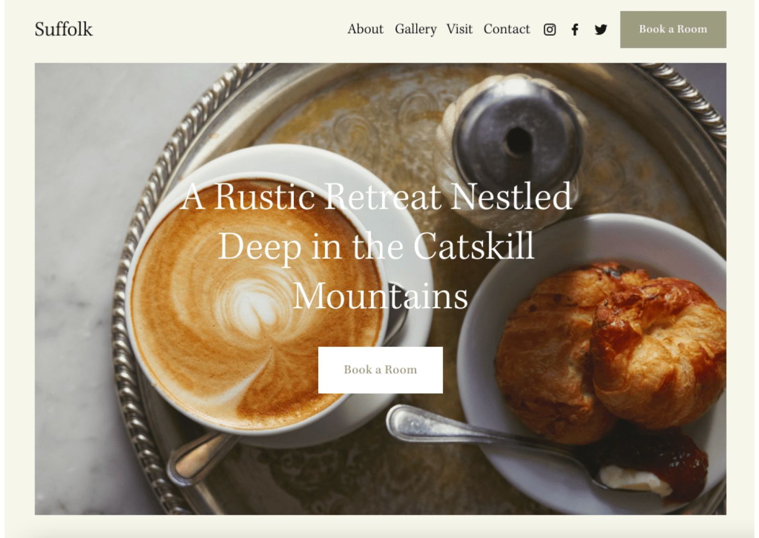 Squarespace Suffolk template demo page