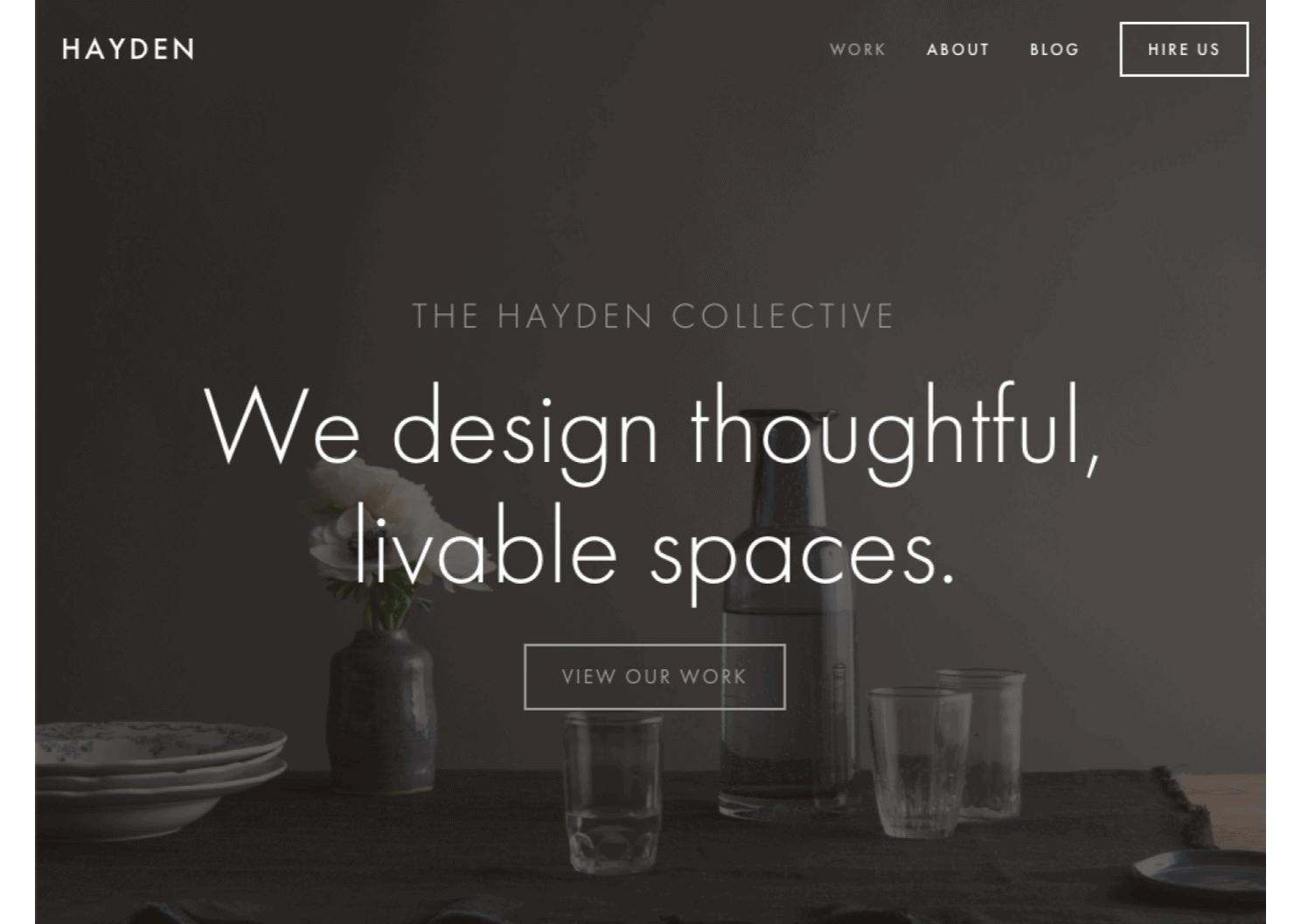Squarespace Template - Hayden