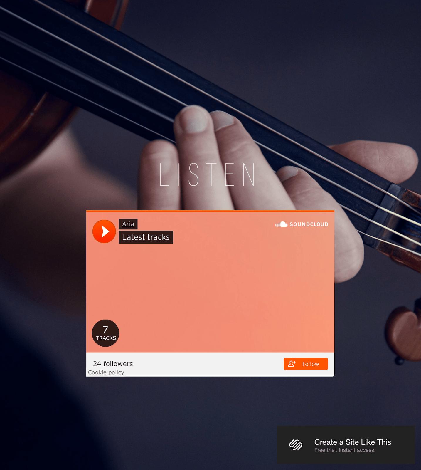 Aria music player