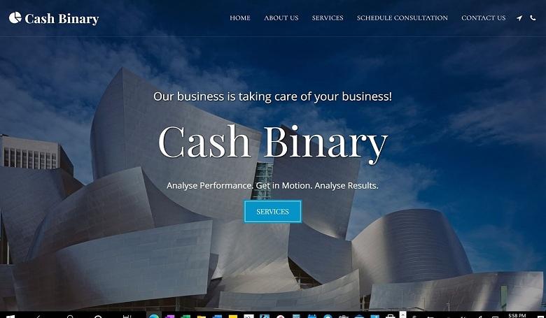 SITE123 Cash Binary template