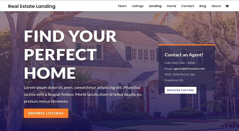 Divi Real Estate Layout Pack