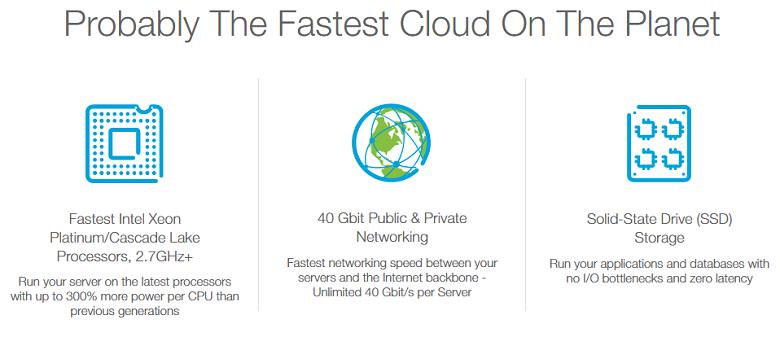Kamatera cloud VPS feature list