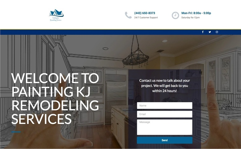 Fiverr freelancer paulgillaspie sample website