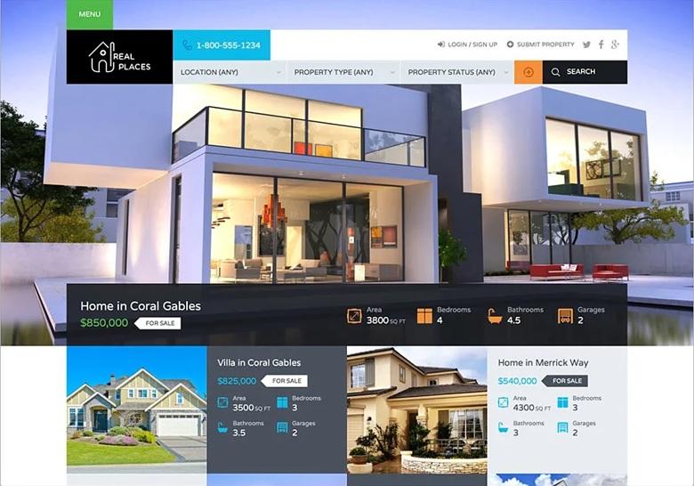 Fiverr freelancer amirdeveloperr's sample real estate website