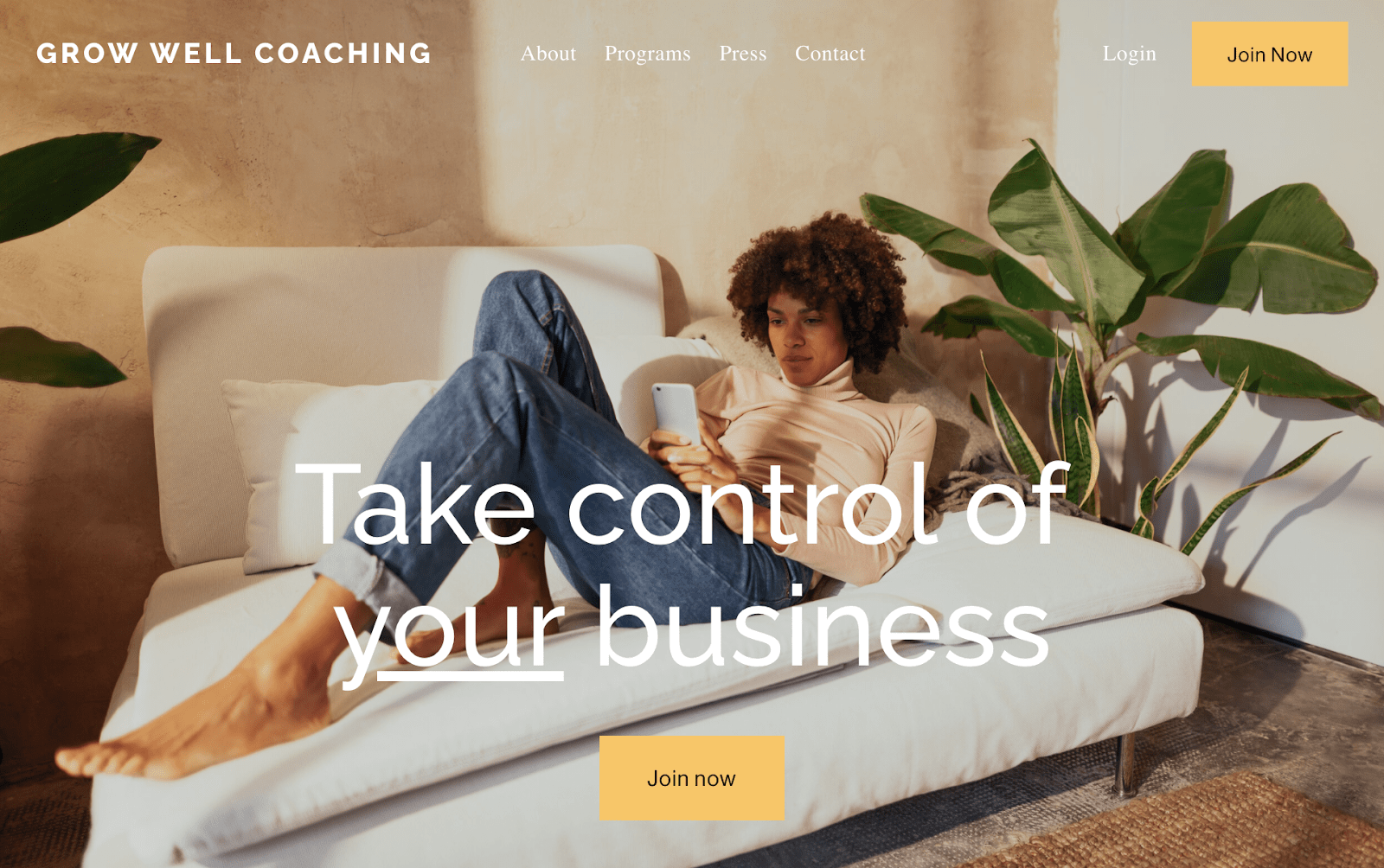 Squarespace Growwell template
