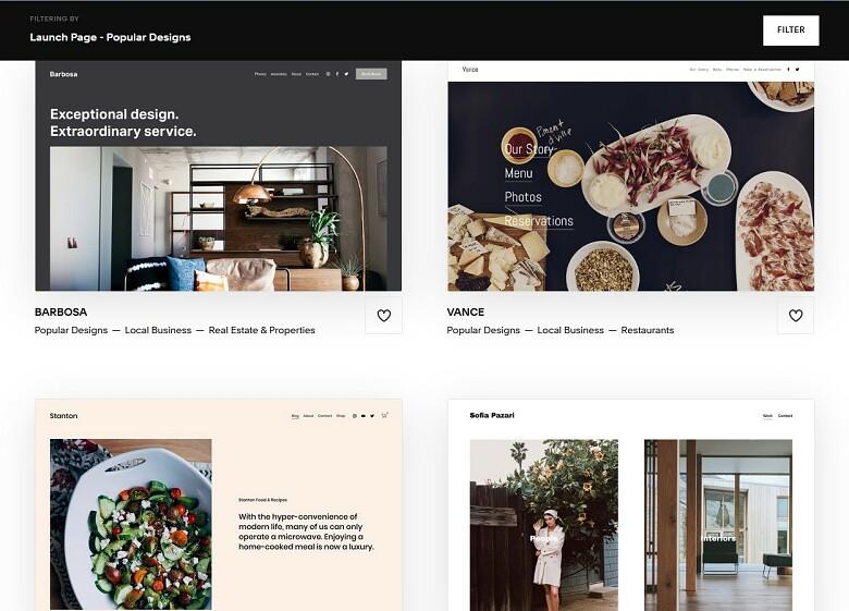 Squarespace Templates - Launch Pages