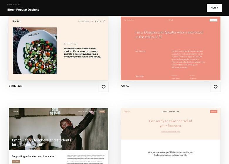 Squarespace blog templates