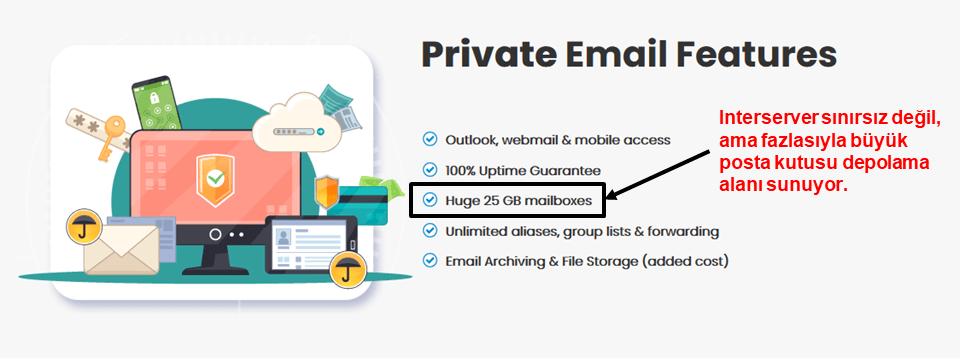 InterServer email features