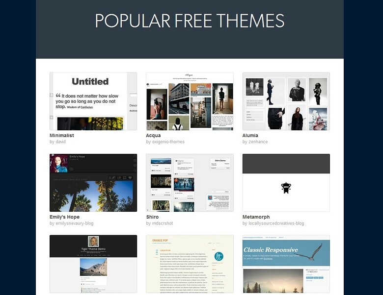 Tumblr blog themes