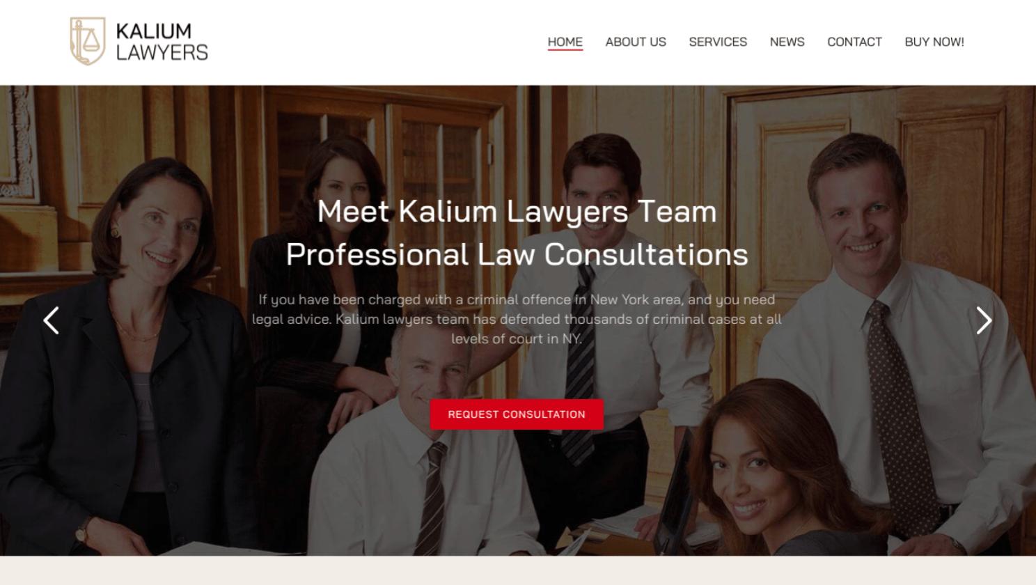 ThemeForest Kalium theme homepage
