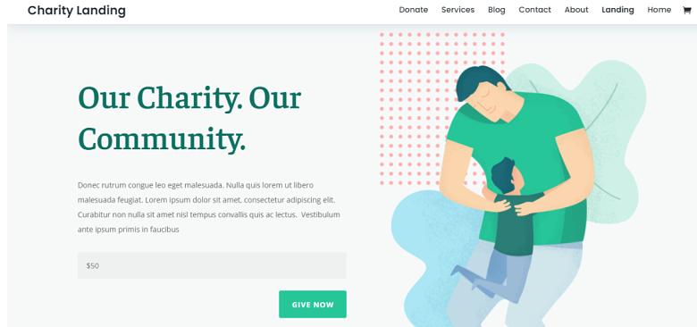 Charity Theme Homepage