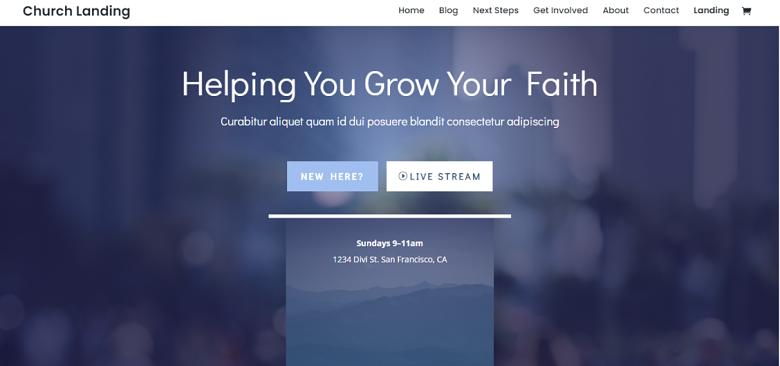 Church Theme Homepage