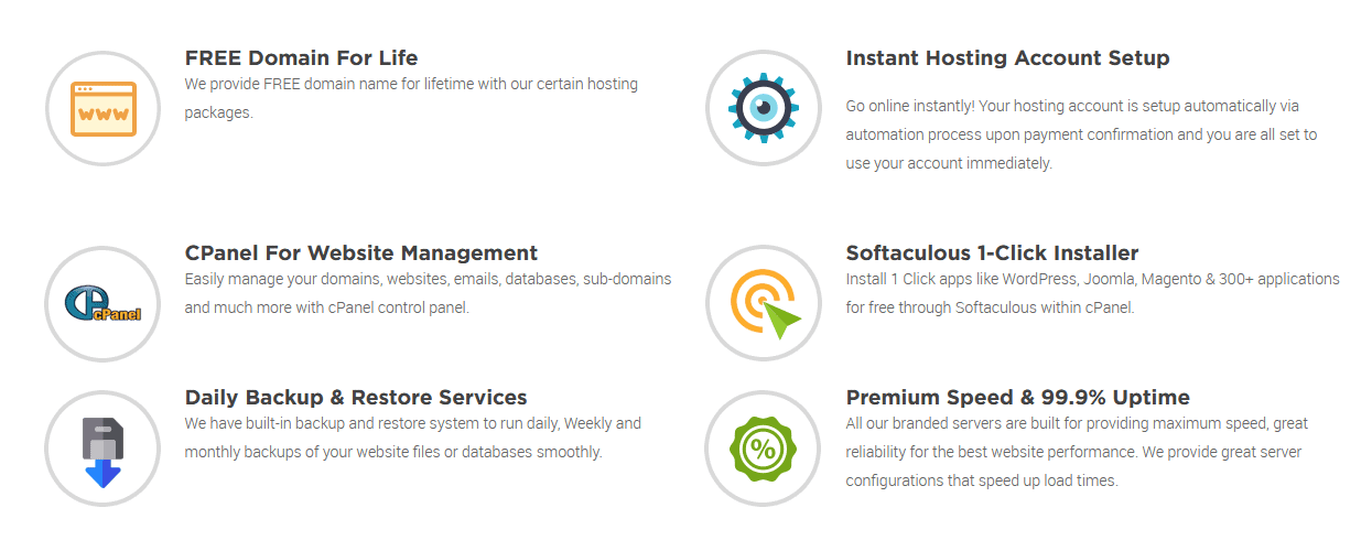 Some of HostSoch's plan features