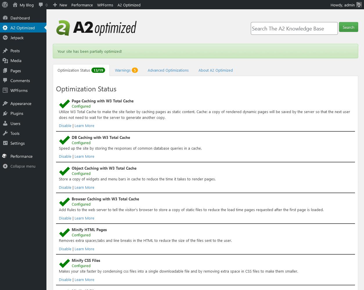 the A2 Optimized plugin