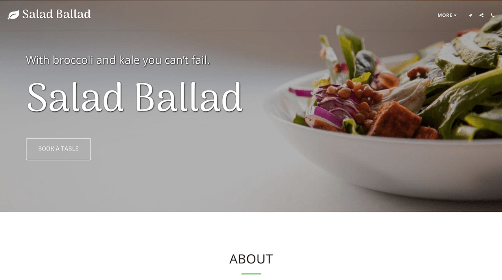 SITE123 - Salad Ballad