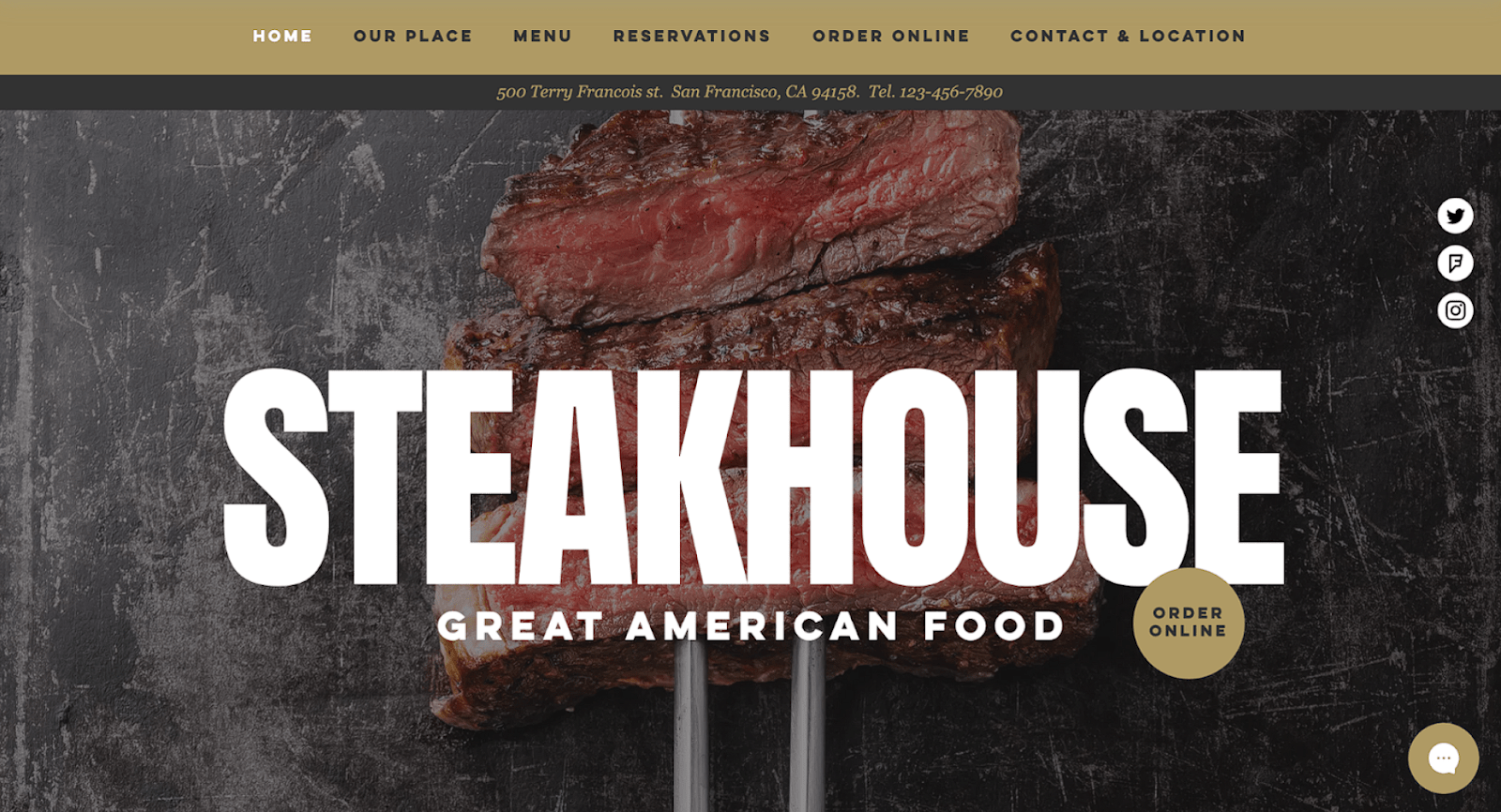 Wix - Restaurant, Steakhouse