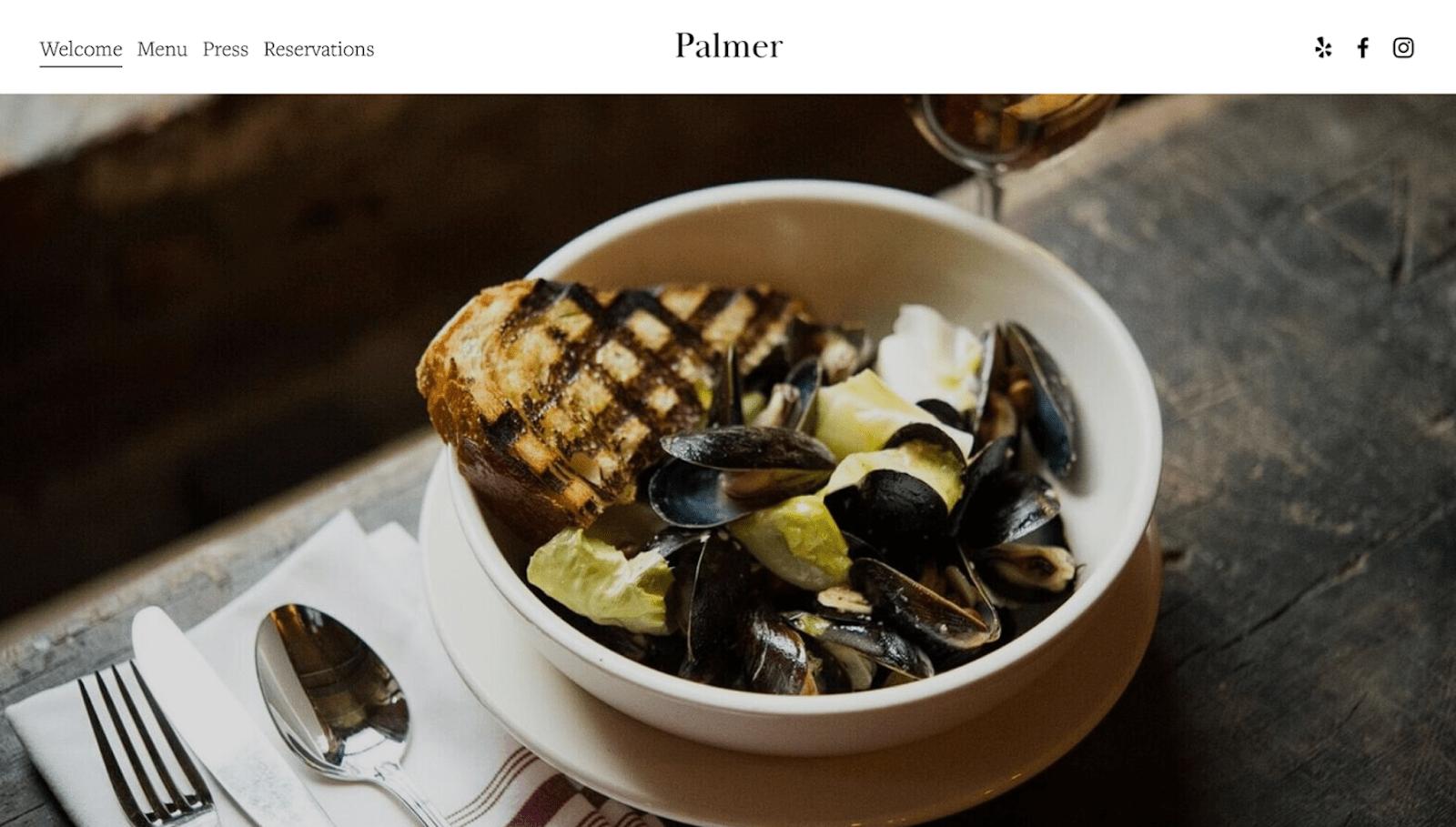 Squarespace - Palmer