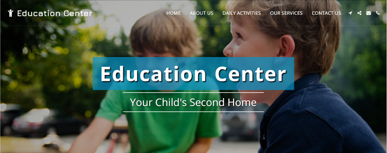 SITE123 Education Center Template