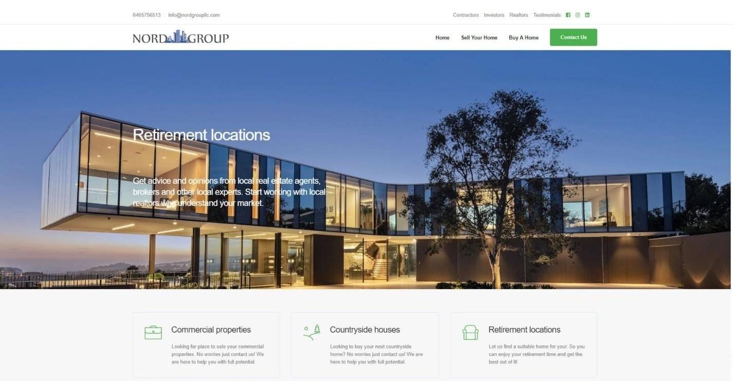 Fiverr freelancer real estate website design