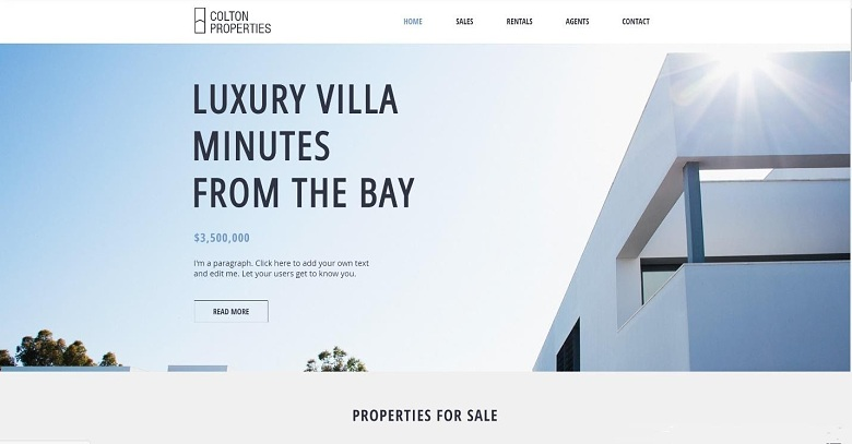 Wix Real Estate Firm template