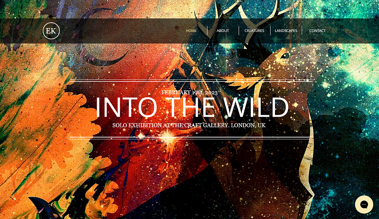 Wix Into the Wild Homepage
