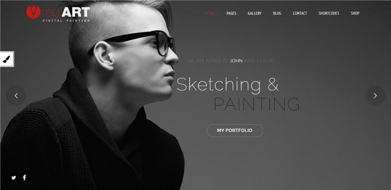 WordPress Red Art Homepage