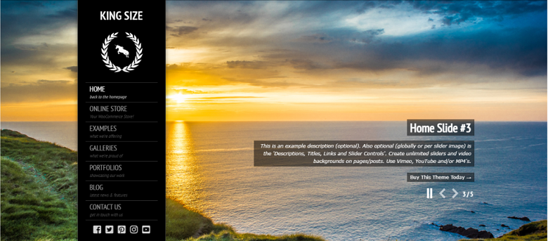 WordPress King Size Homepage