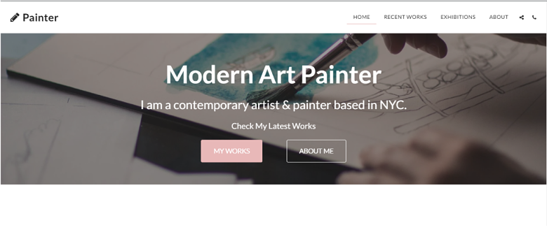 SITE123 Painter Homepage