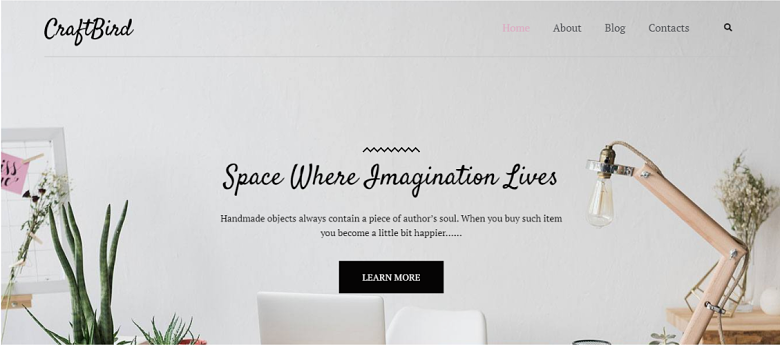 WordPress CraftBird Homepage