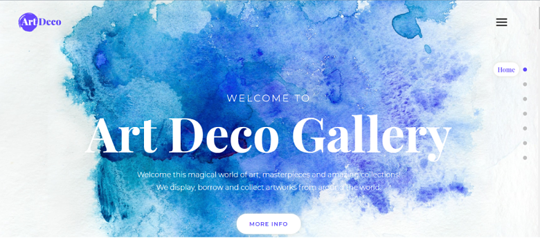WordPress Art Deco Homepage
