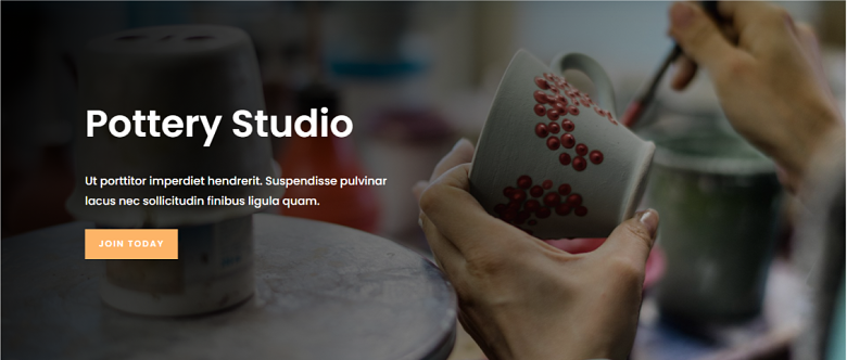 WordPress Pottery Studio Homepage