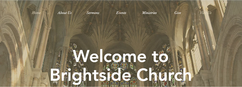 Wix Traditional Church Template