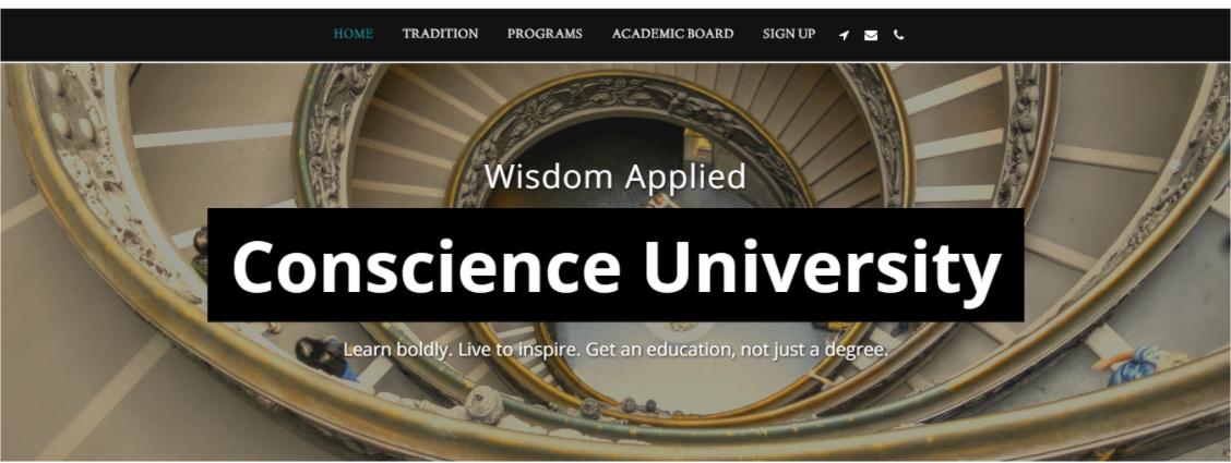 SITE123 Conscience University Template