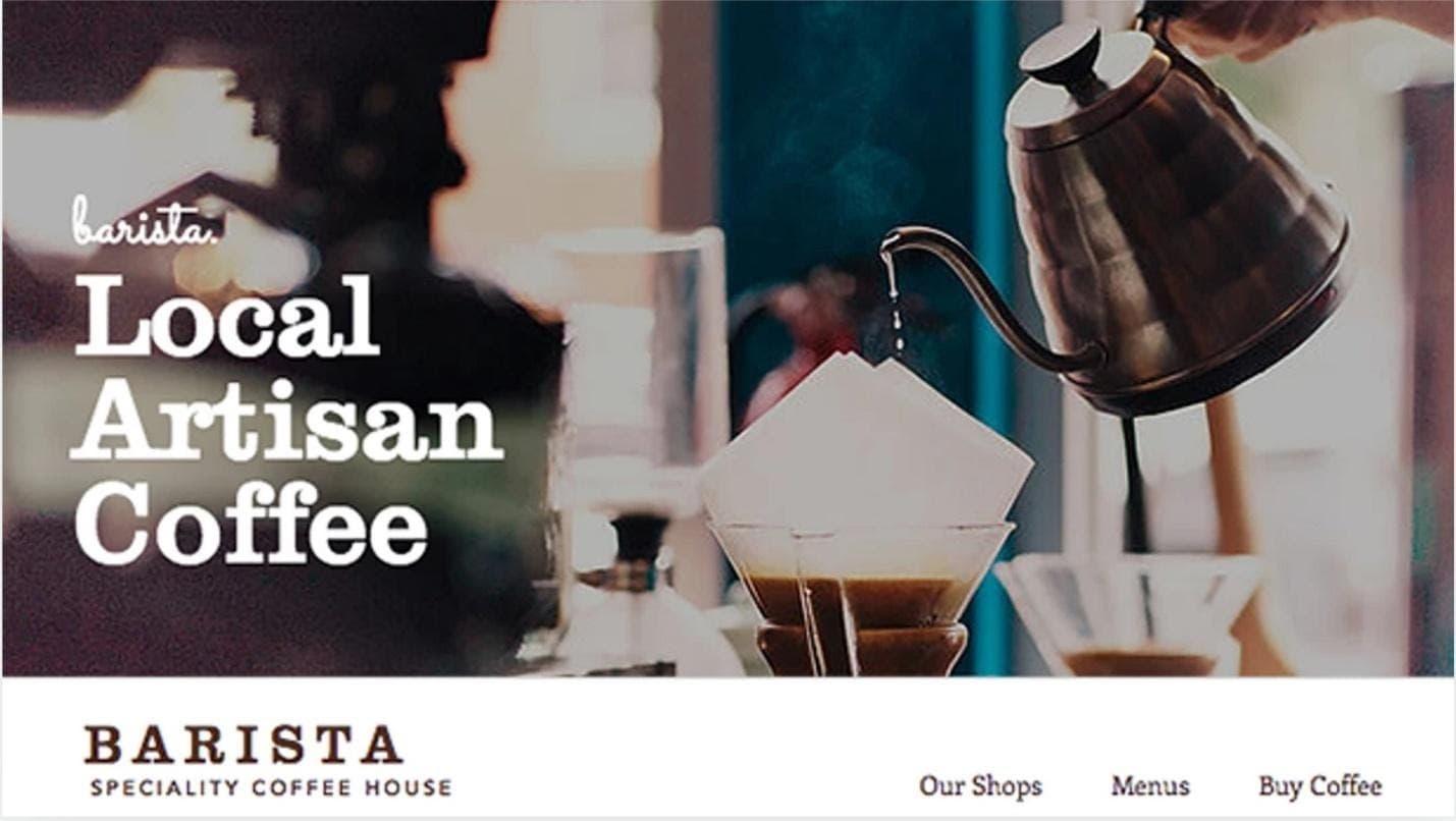 Wix Coffee House template