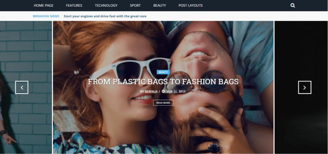 WordPress Gloria Homepage