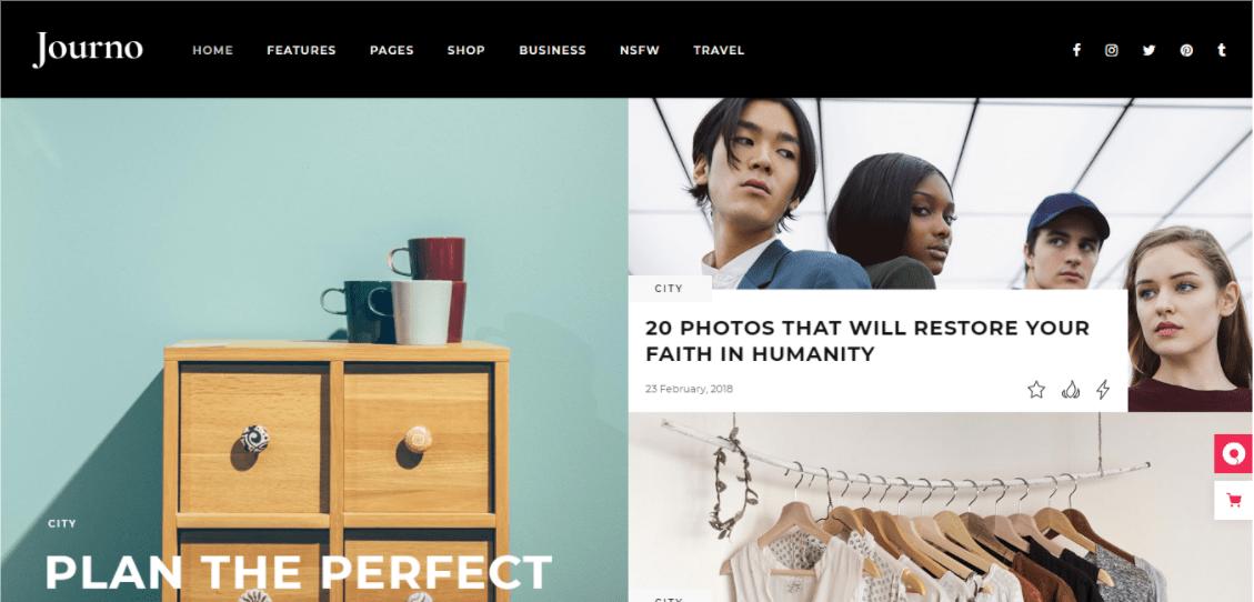 WordPress Joumo Homepage