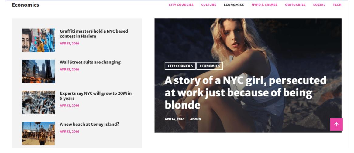WordPress BitNews Homepage