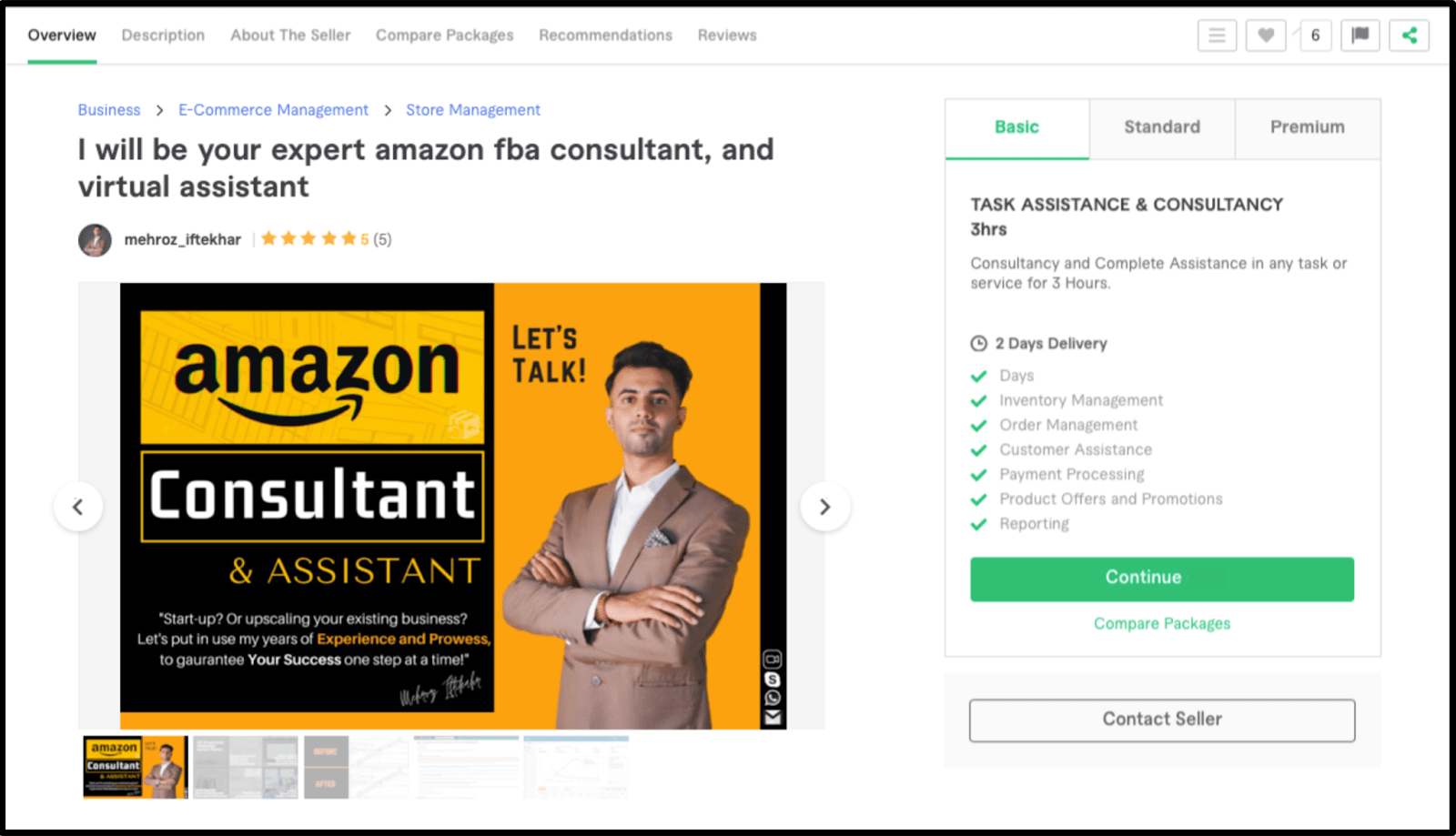Freelance Amazon FBA expert Mehroz_iftekhar profile on Fiverr